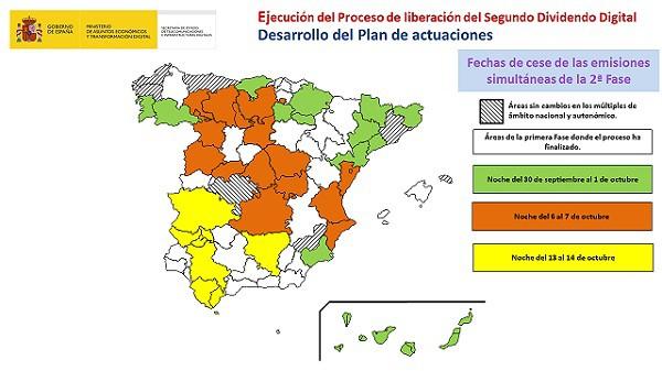 TDT mapa